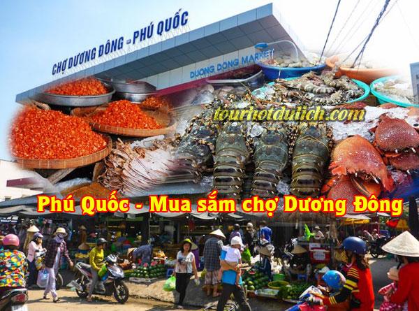 mua sắm tại chợ Dương Đông Phú Quốc