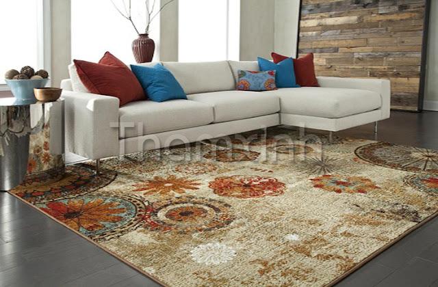 Thảm trải sàn với họa tiết và hoa văn bắt mắt