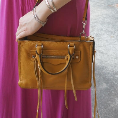 Rebecca Minkoff micro Regan satchel in Harvest Gold mustard yellow | AwayFromTheBlue