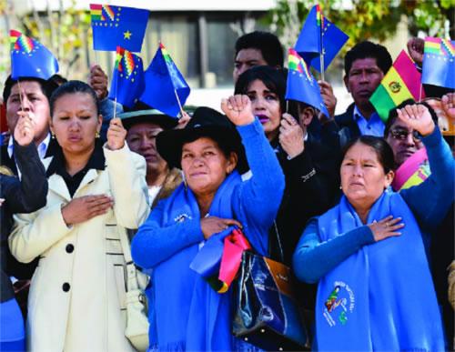 MAS anuncia marchas y huelgas para postulación de Morales el 2019