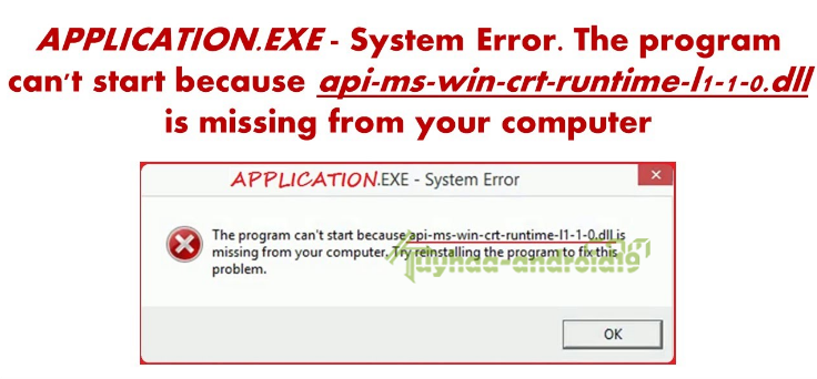 "Fix | Mengatasi Error ""api-ms-win-crt-runtime-l1-1.0.dll"