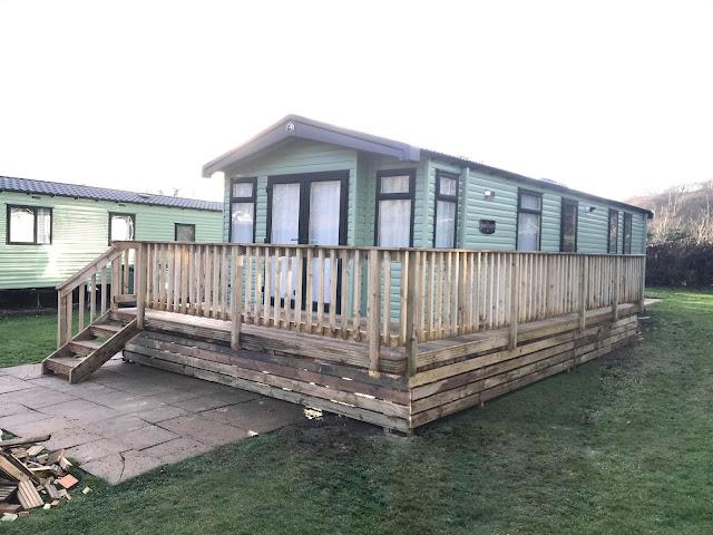 Caravan decking mid wales