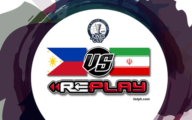 Video Playlist: Philippines-Ateneo vs Iran game replay July 22, 2018 Jones Cup