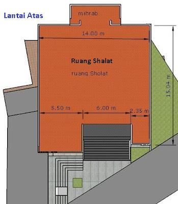 layout design masjid muhajirin bumi pasundan bandung lantai atas