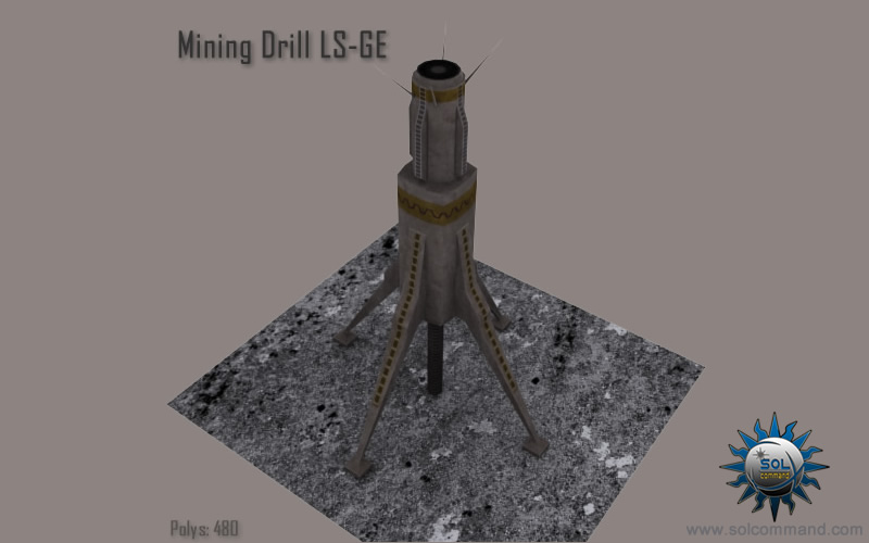 earth, terran, futuristic, sci fi, solcommand, 3d, free, download, low poly, textured, mesh, game ready, space, concept, mining, drill, equipment, miners, manufacture, cargo, asteroid, drone, sensor, scanner, automated, harvest