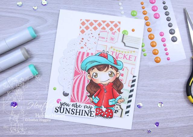 Heather's Hobbie Haven - Girl with Rain Coat Card Kit