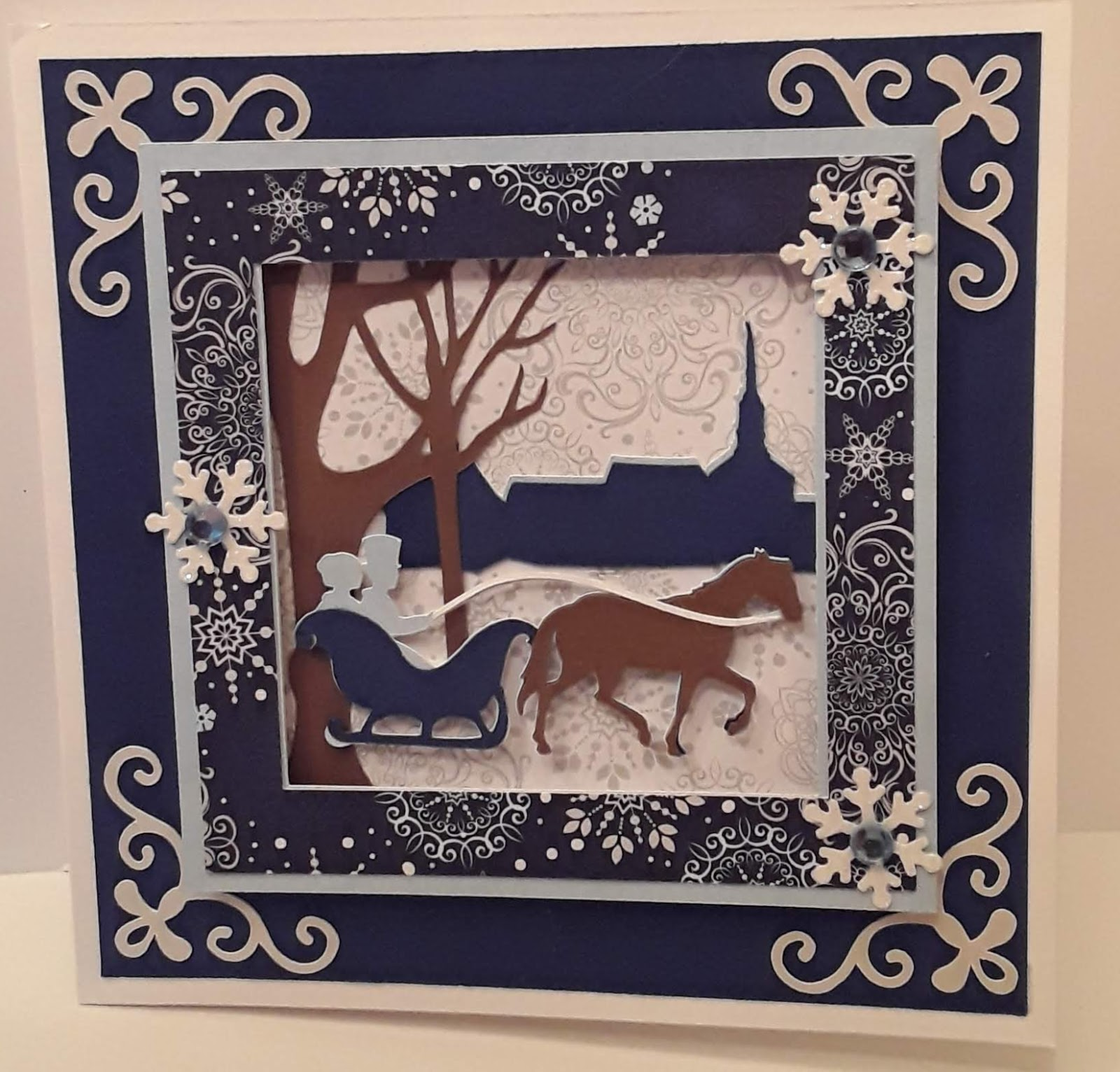 I Found This Card On Pinterest And Thought It Was Old Fashioned So Pretty Is From The Christmas Cards Cartridge Bet Your Projects Are