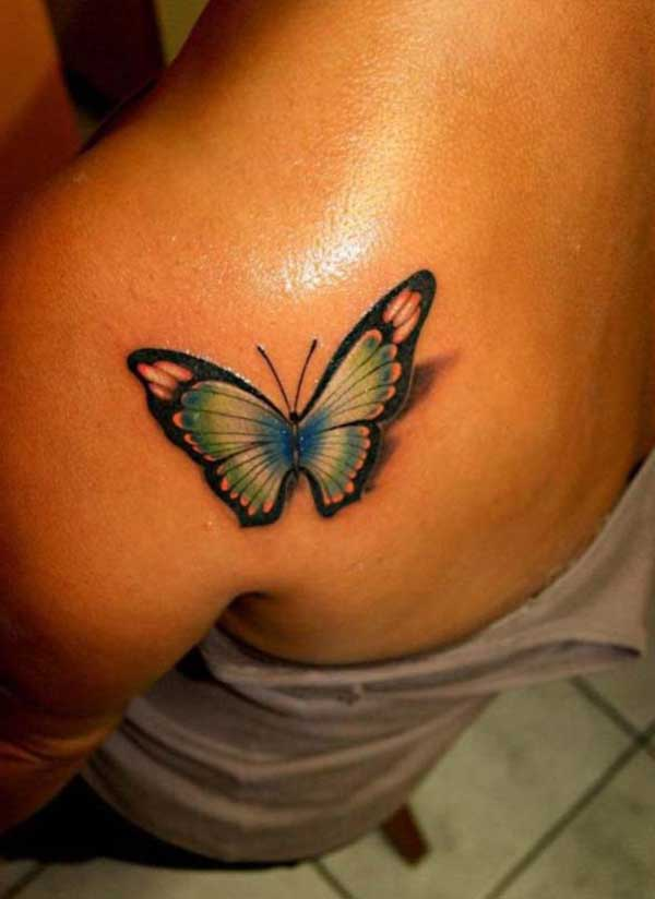 3d butterfly tattoo design