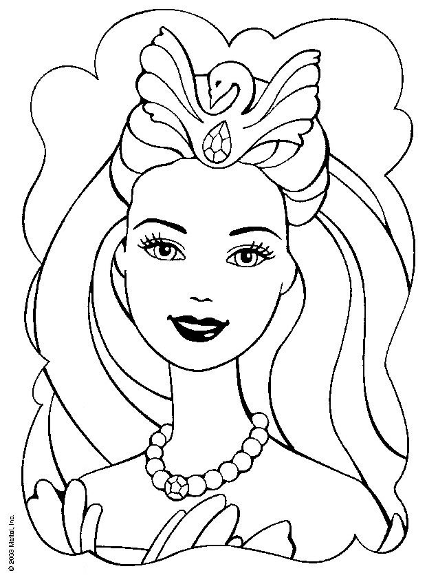 Barbie Printable Coloring Pages For Kids