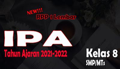 RPP 1 Lembar IPA SMP Kelas 8 Tahun Ajaran 2021-2022