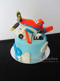 Bolo de aniversário Disney Aviões