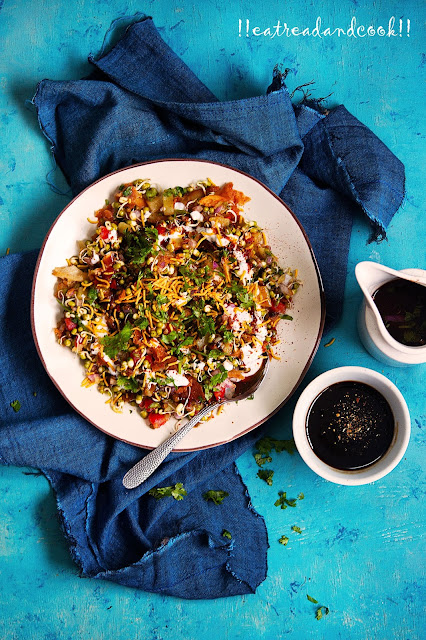 how to make healthy Sprouts Chaat recipe