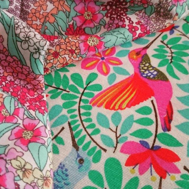 colibrí y flores