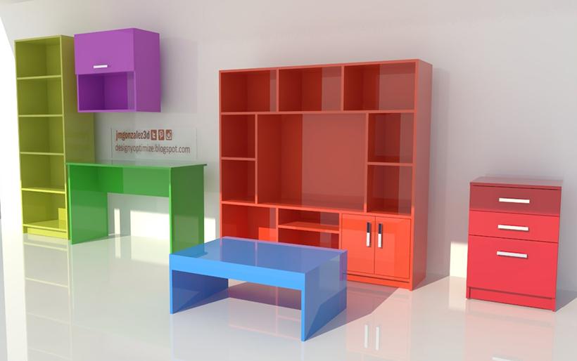 Dise o de muebles madera planos y armado muebles for M s mobiliario auxiliar para tu cocina s l
