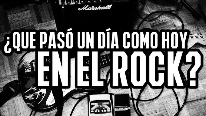 Efemerides rock: 25 de abril
