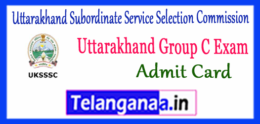 Uttarakhand Subordinate Service Selection Commission Samuh G Gr C Admit Card 2017 Cutoff Syllabus