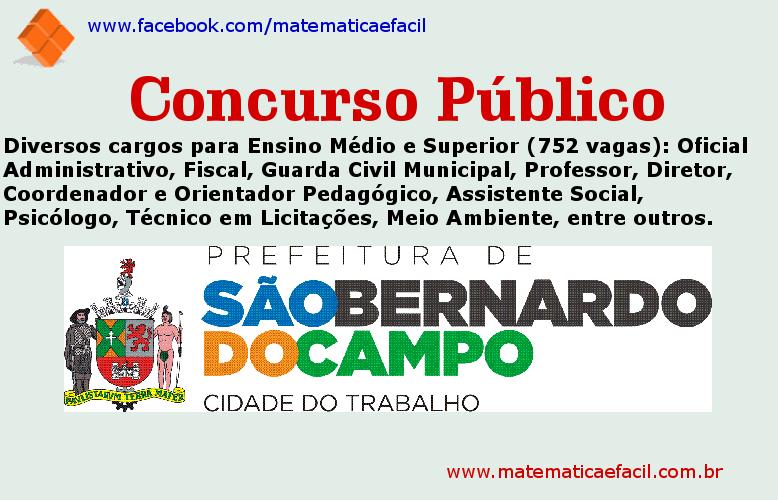 Concurso Público para a Prefeitura de São Bernardo do Campo