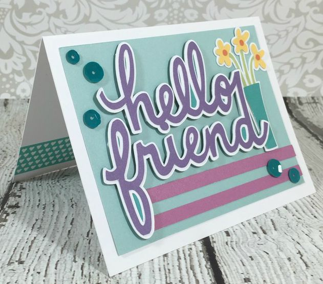 Cricut Friendship card
