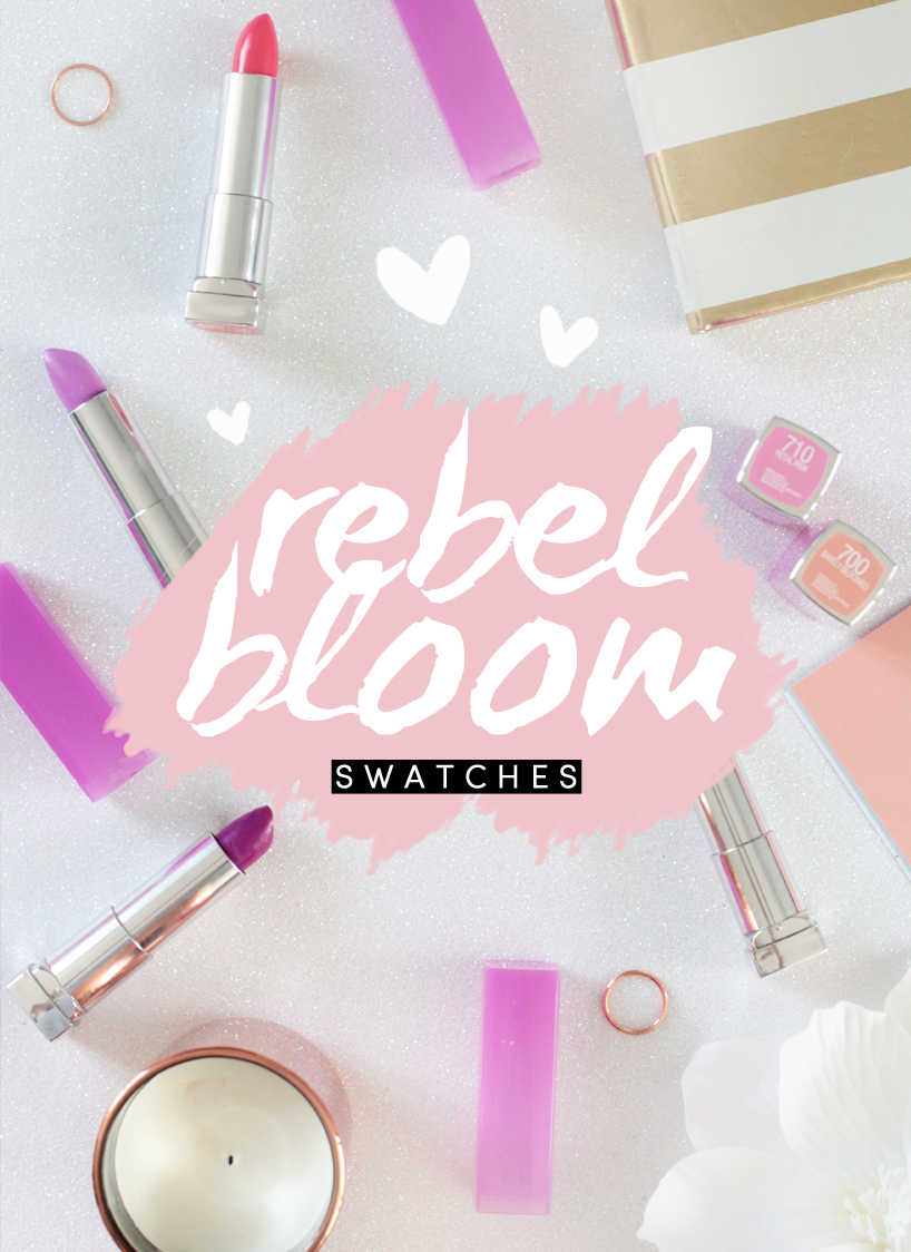 Maybelline Rebel Bloom Lip Swatches