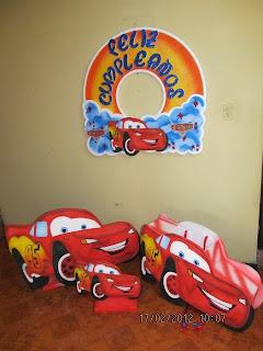 DECORACION CARS 1 FIESTAS INFANTILES Y RECREACIONISTAS MEDELLIN
