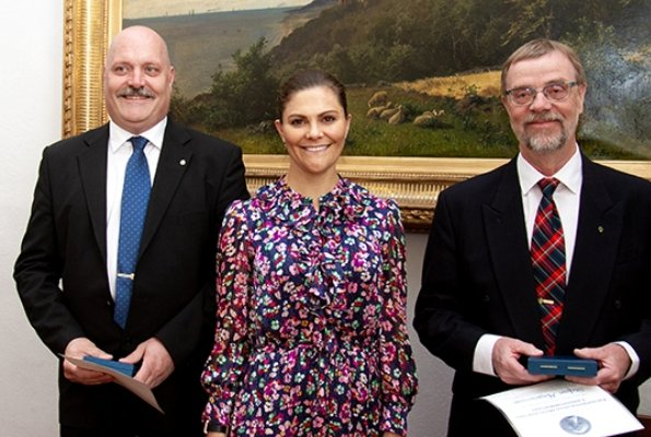 Crown Princess Victoria wore &Other stories floral print maxi dress, Merit Medals to Jonny Pettersson and Stefan Magnusson