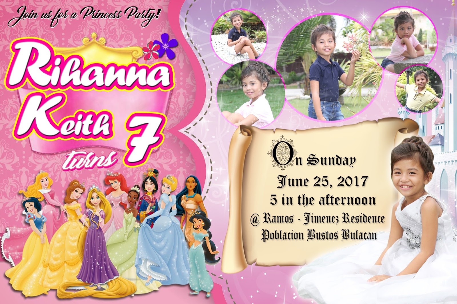 Sample Invitation For 7th Birthday