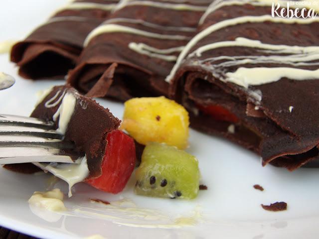 Crêpes de chocolate