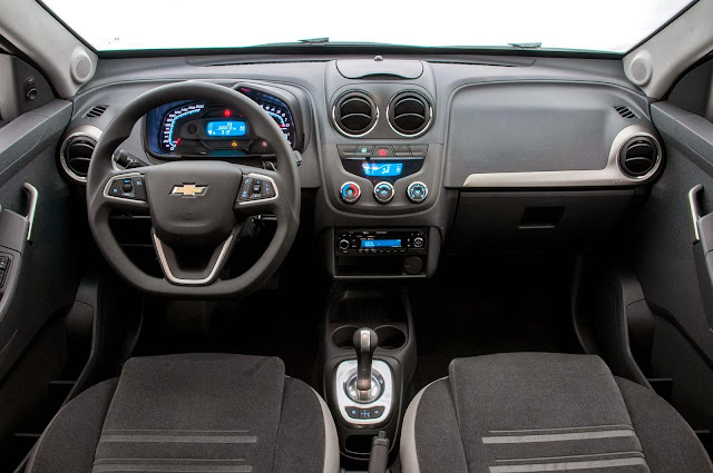 picape Montana Chevrolet 2014 - interior