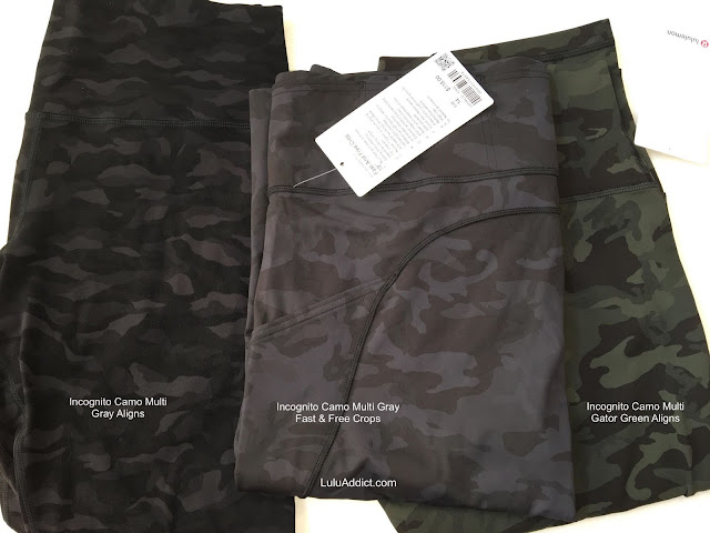 lululemon incognito-camo-gray align-fast-and-free-crop gator-green-camo--align