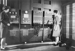 Two women operating ENIAC; Wikepedia