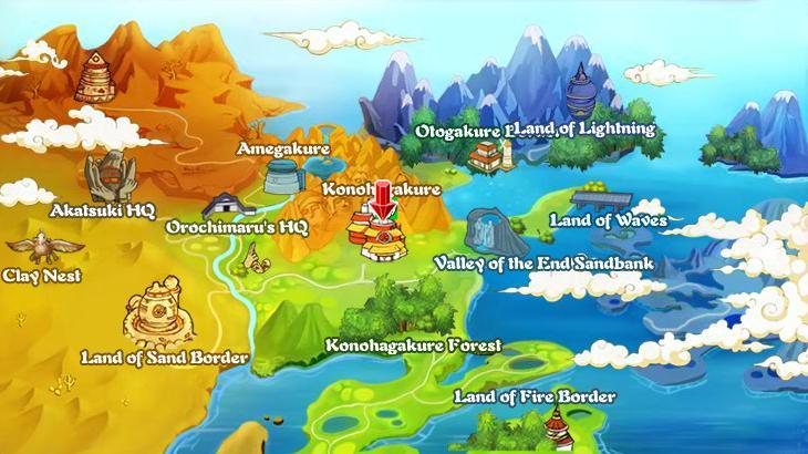 ... Bubble Ninja Naruto Action Mmorpg World Map ...