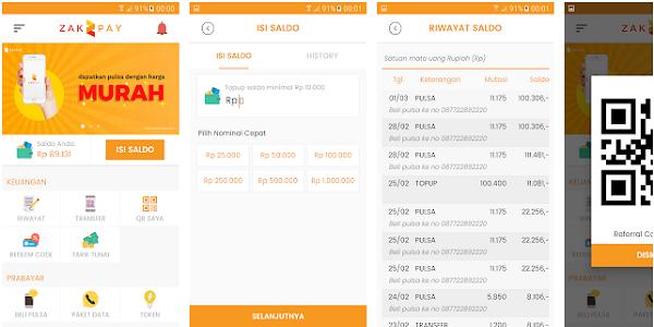 Zakpay : Cara Mendapatkan Pulsa Gratis dari Aplikasi Zakpay Android