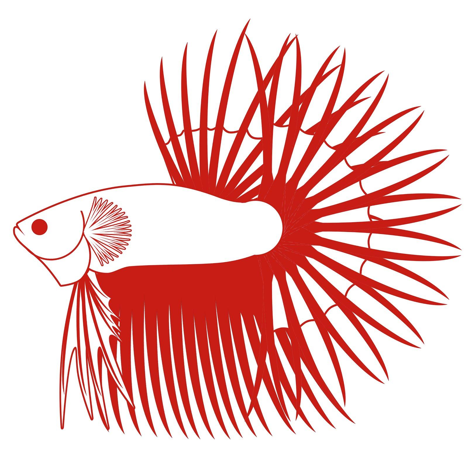 Gambar sepatu: Gambar Vektor Logo Ikan Cupang Vector