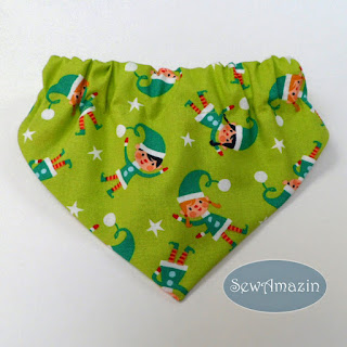 Christmas Dog Bandana, Santa Elves