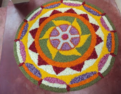 simple onam pookalam images