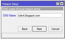 Menentukan DNS untuk local hotspot server