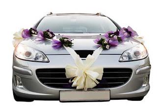Dekorasi Bunga mobil Penganten Penganten