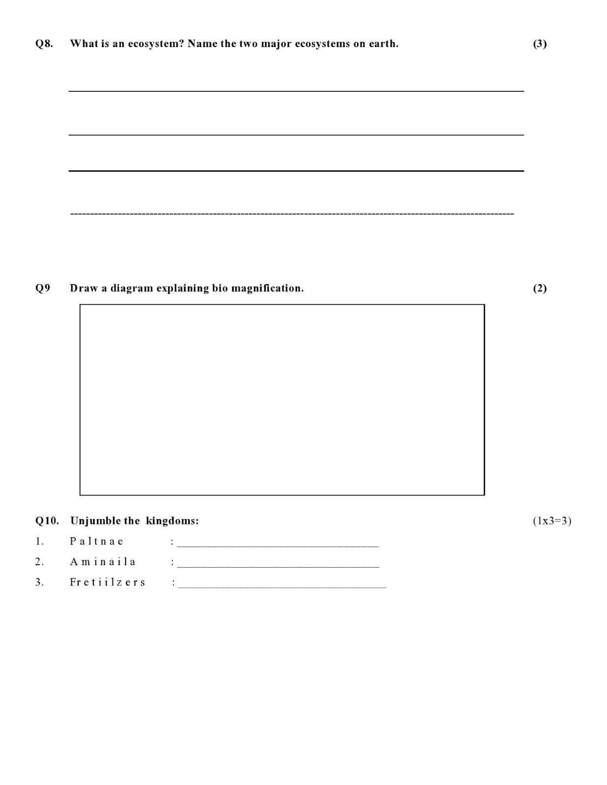 Birla World School Oman Revision Worksheets For Grade 5 B