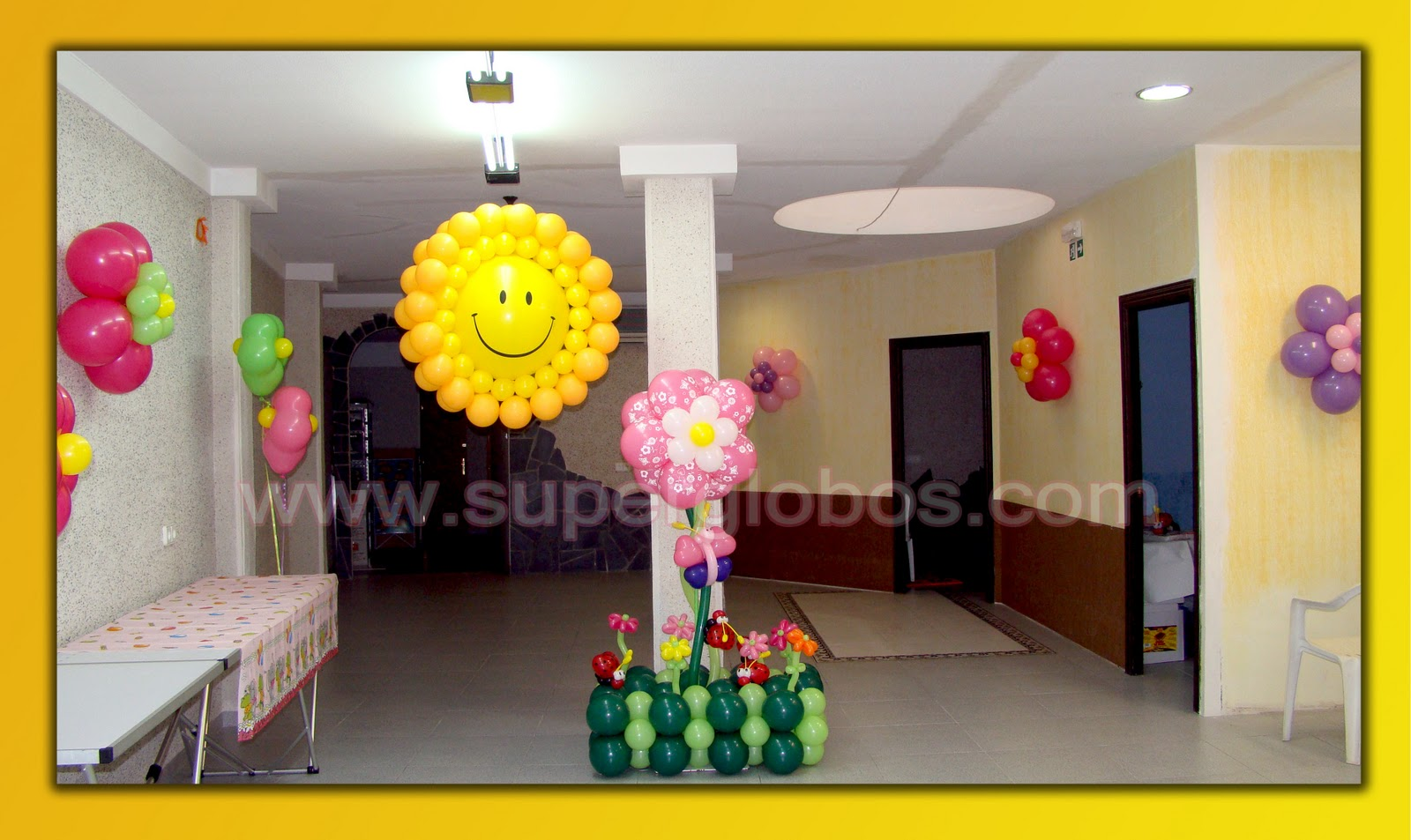 Dise os con globos para fiestas infantiles decoraci n for Fotos de decoraciones