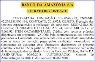 Edital Concurso BASA 2018 - Banco da Amazônas