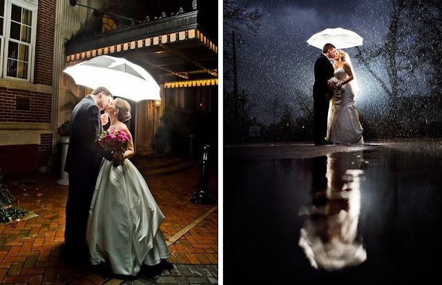 что делать на свадьбе дождь