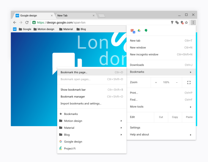 Google Chrome Material Design Settings