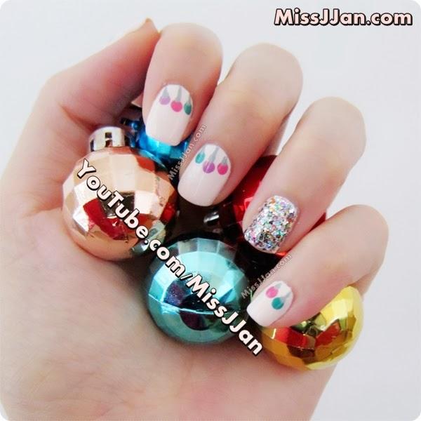 Christmas Nails Tutorial Youtube: MissJJan's Beauty Blog ♥: Christmas Ornament Nails {Tutorial}