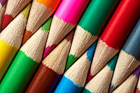 Lápices de colores imagen de stock