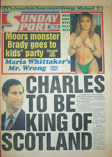 Front page of the Sunday Sport newspaper from 14th June 1987