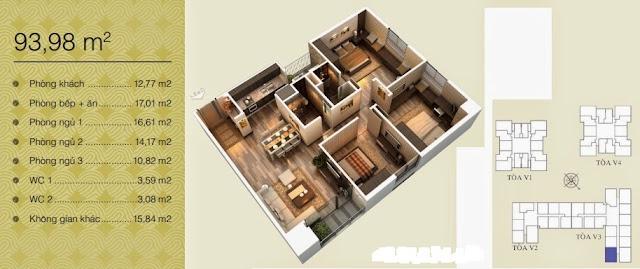 Căn 93,98 m2