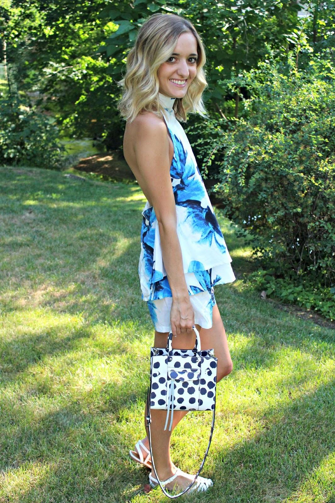 dresslink blue floral set