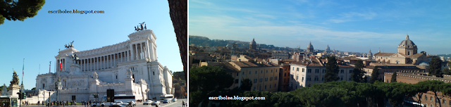 Viaje a Roma: monumento al soldado desconocido y vistas desde el mismo