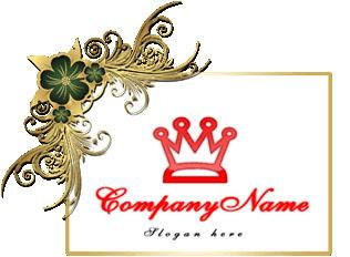 تحميل شعار تاج دائري واحد لون مفتوح للفوتوشوب, Rounded crown psd logo design