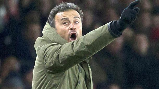 Luis Enrique, contento con la victoria contra el Arsenal